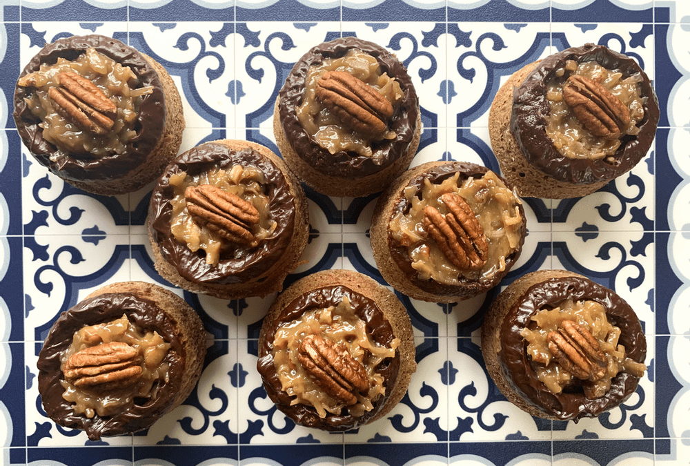 German Chocolate Cake Cupcakes